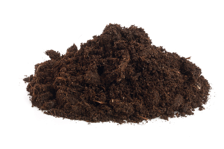 Pile heap of soil isolated on white background Banque d'images - 96662897