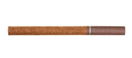 The brown cigarette isolated on a white background. Stock Photo