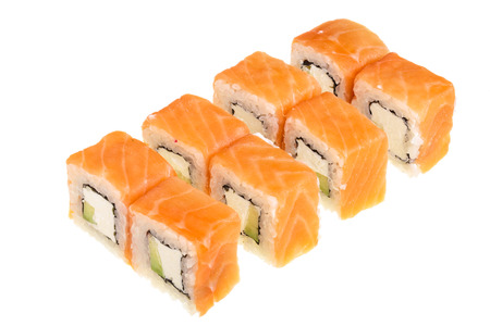sushi roll isolated on white background without a shadow. Stock Photo