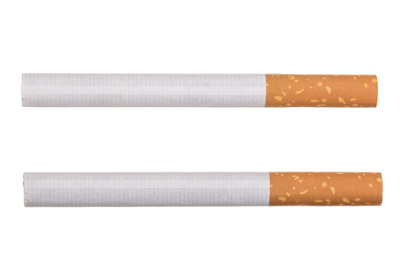 The cigarette isolated on a white background.