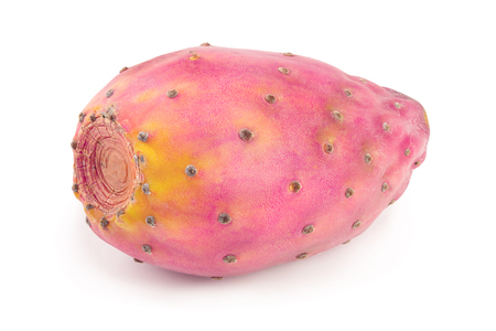 red prickly pear or opuntia isolated on a white background Banco de Imagens
