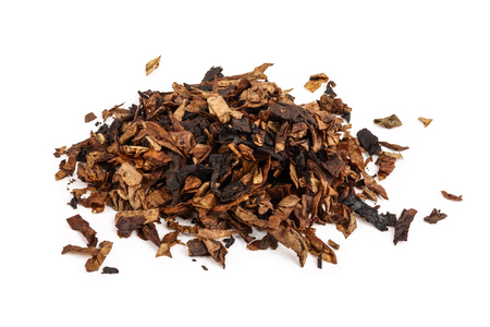 dried smoking tobacco isolated on white background 免版税图像