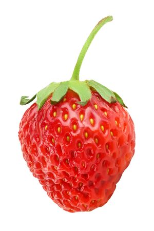 Strawberry isolated on white background. Top view. Flat lay pattern