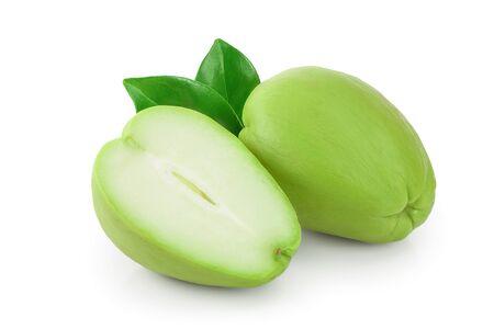 fresh Chayote vegetable isolated on white background
