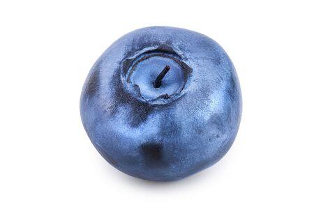 Single fresh blueberry isolated on white background Stockfoto - 128619403