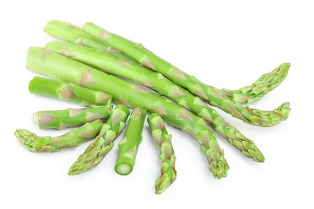Fresh sprouts of asparagus isolated on white background Stockfoto