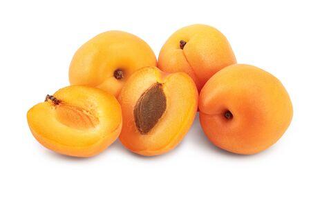 Apricot fruit isolated on white background macro