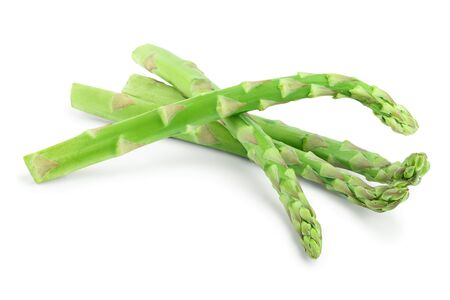 Fresh sprouts of asparagus isolated on white background 写真素材