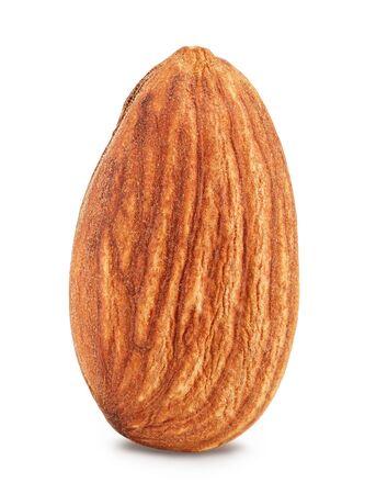 Amandelen noten geïsoleerd op een witte achtergrond Stockfoto