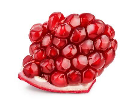 Pomegranate piece isolated on white background