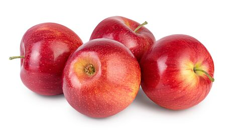 Red apple isolated on white background Banque d'images