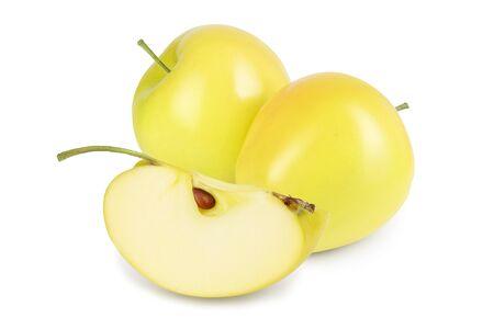 yellow apple isolated on white background Reklamní fotografie