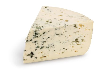 Blue cheese isolated on white background with clipping path and full depth of field.