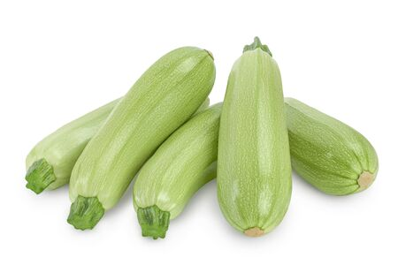 zucchini or marrow isolated on white background with clipping path and full depth of field