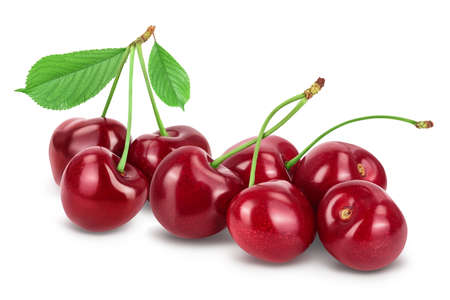 red sweet cherry isolated on white background Stock fotó