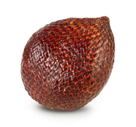 Salak snake fruit isolated on white background with clipping path and full depth of field Archivio Fotografico