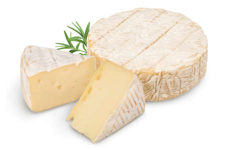 Camembert cheese isolated on white background with clipping path and full depth of field Standard-Bild