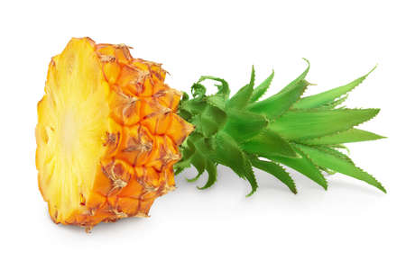 pineapple half isolated on white background with   full depth of field Standard-Bild