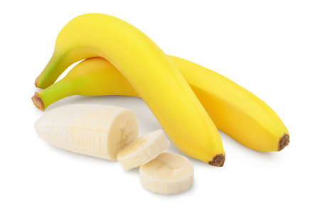 banana isolated on white background with full depth of field.