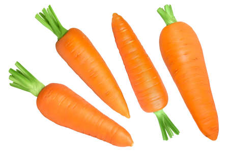 Carrot isolated on white background with   full depth of field. Top view. Flat lay Standard-Bild