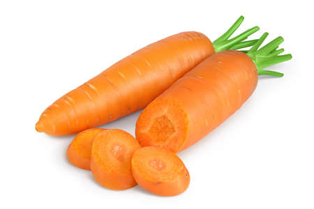 Carrot isolated on white background and full depth of field