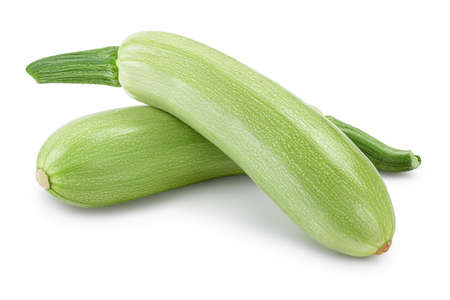 zucchini or marrow isolated on white background with and full depth of field