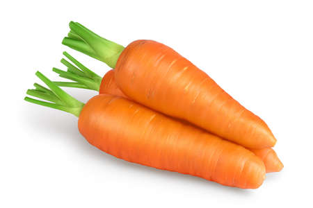 Carrot isolated on white background with clipping path and full depth of field