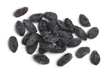 Black raisin isolated on white background