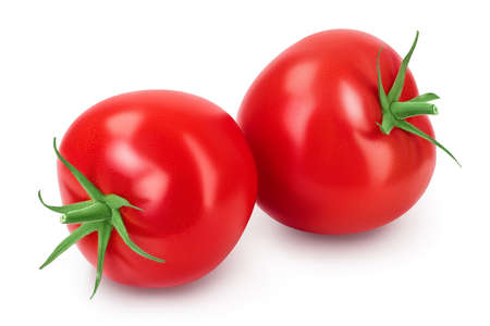 Tomato isolated on white background with  and full depth of field.