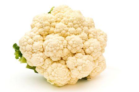 Cauliflower on a white background.