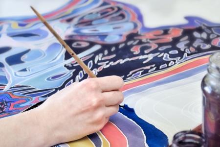 Ręcznie malowana na tkaninie