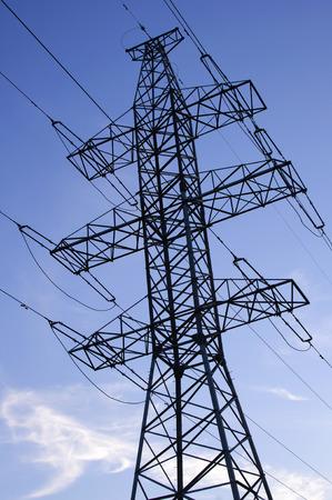 Power line against the sky photo