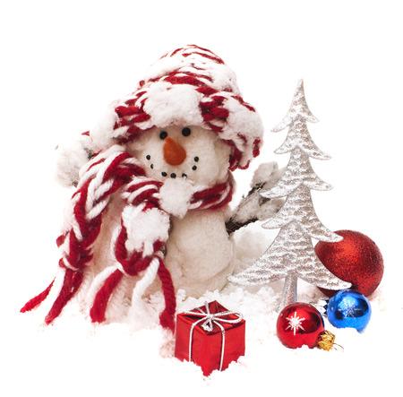 Snowman i Choinka z prezentem