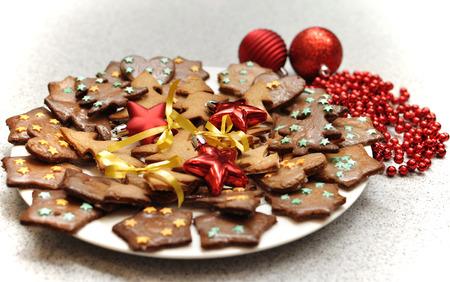 Świąteczne pierniki ciastka przeszklona