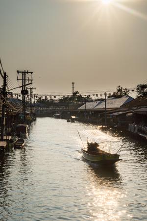 amphawa: amphawa floating market in thailand  Photo taken 3 3 2014