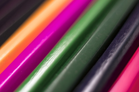 colored pencils close-up on a white background, for backgrounds, Powerpoint templates
