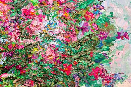 artist's canvas: texture of oil painting, palette with paints, Art Painted Image color, paint, artists canvas, impressionism Stock Photo