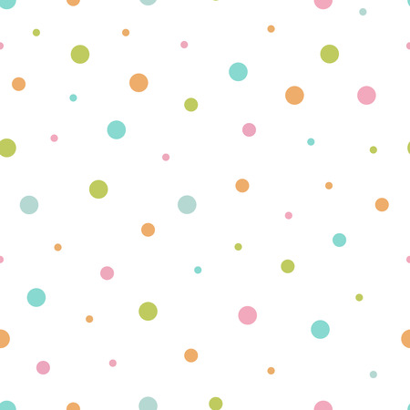 Vector illustration of seamless pattern of multicolored circles.