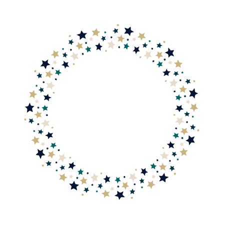 Vector stars wreath. Stars frame for greeting, invitation cards design.