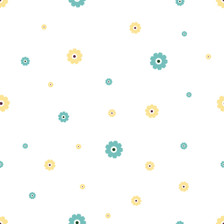 Vector illustration of seamless pattern of flowers.