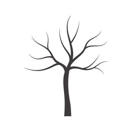 Vector illustration of bare tree. Stock Illustratie