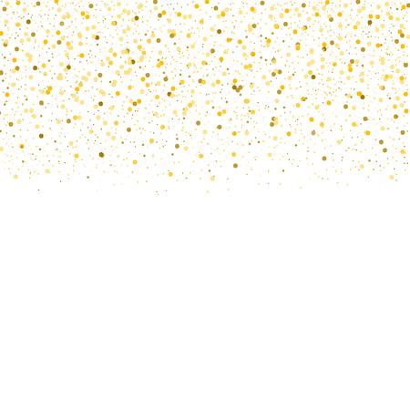 Vector gold confetti border.  Illustration