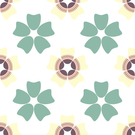 Vector seamless flower pattern. Иллюстрация