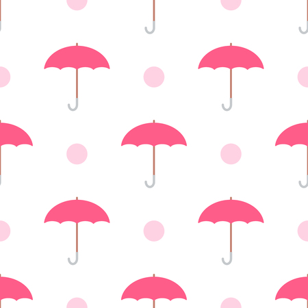 Vector seamless pink umbrella pattern.  Stock Illustratie