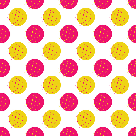 Vector seamless pattern of dots and particles