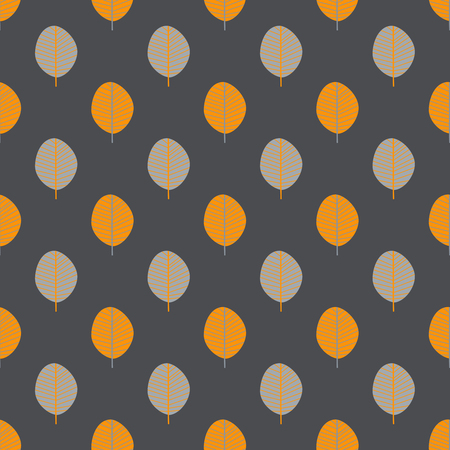 Vector seamless pattern of abstract autumn leaves