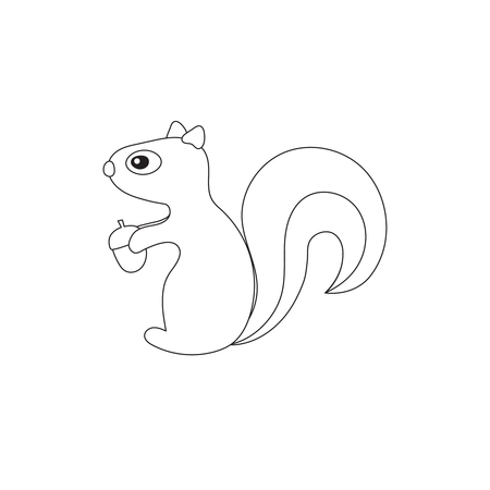 Vector illustration of squirrels with acorn Imagens - 101673208