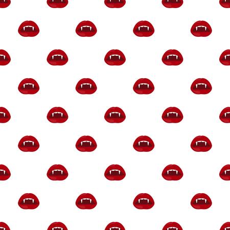 Patrón transparente de vector Halloween de labios de vampiro. Ilustración de vector