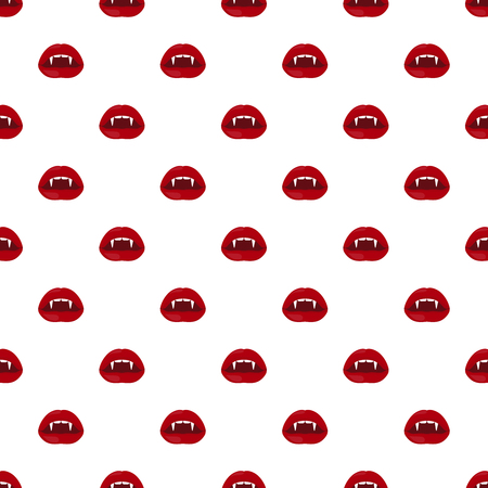 Vector Halloween seamless pattern of vampire lips.
