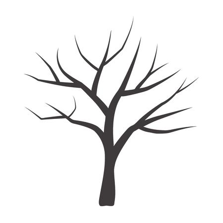 Illustration vectorielle de l'arbre. Arbre de vecteur.